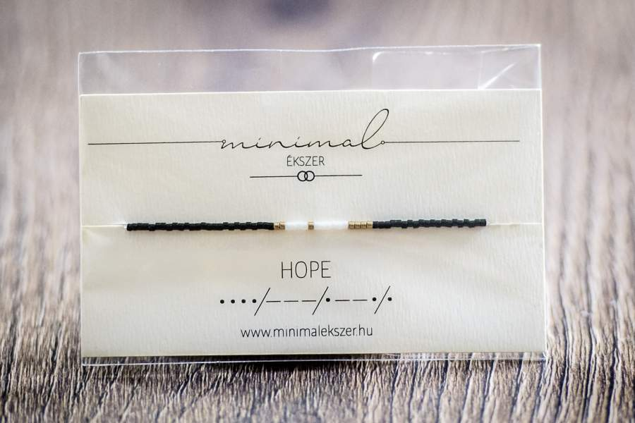 ´HOPE´ Morse kód karkötő