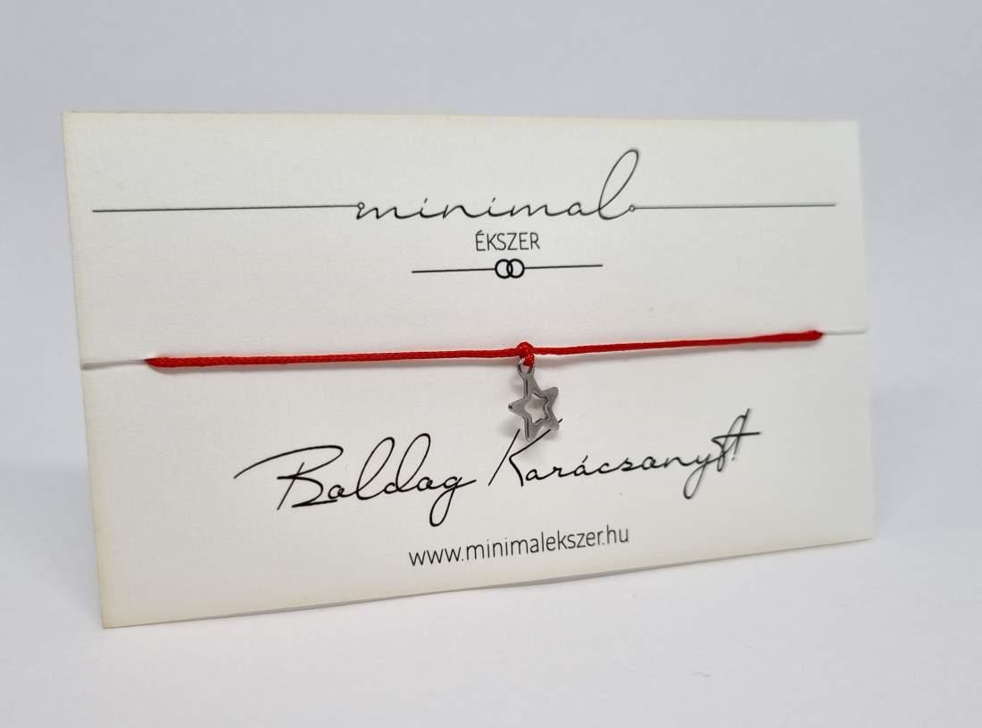 Mini csillag medálos zsinór karkötő