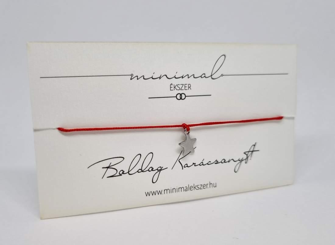 Mini tömör csillag medálos zsinór karkötő