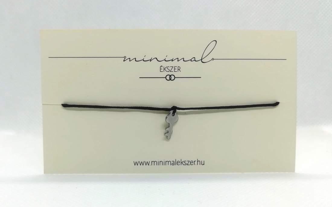 Mini kulcs medálos zsinór karkötő