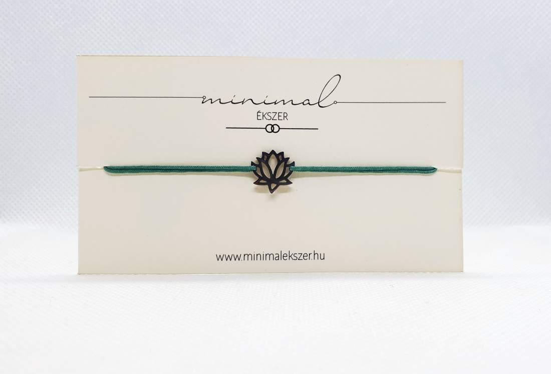 Lótuszvirág medálos zsinór karkötő