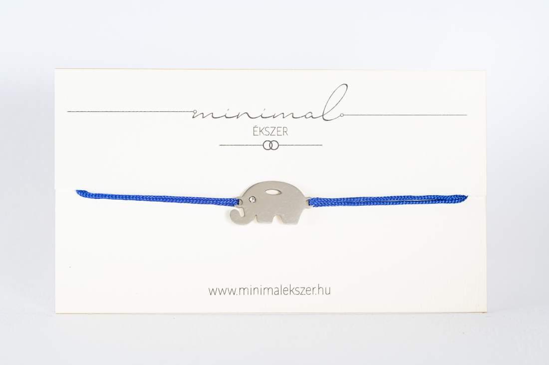 Elefánt medálos zsinór karkötő