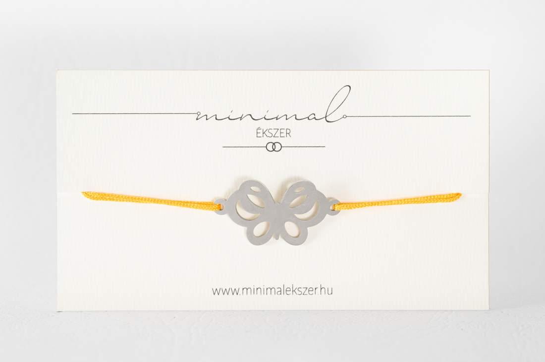 Pillangó medálos zsinór karkötő