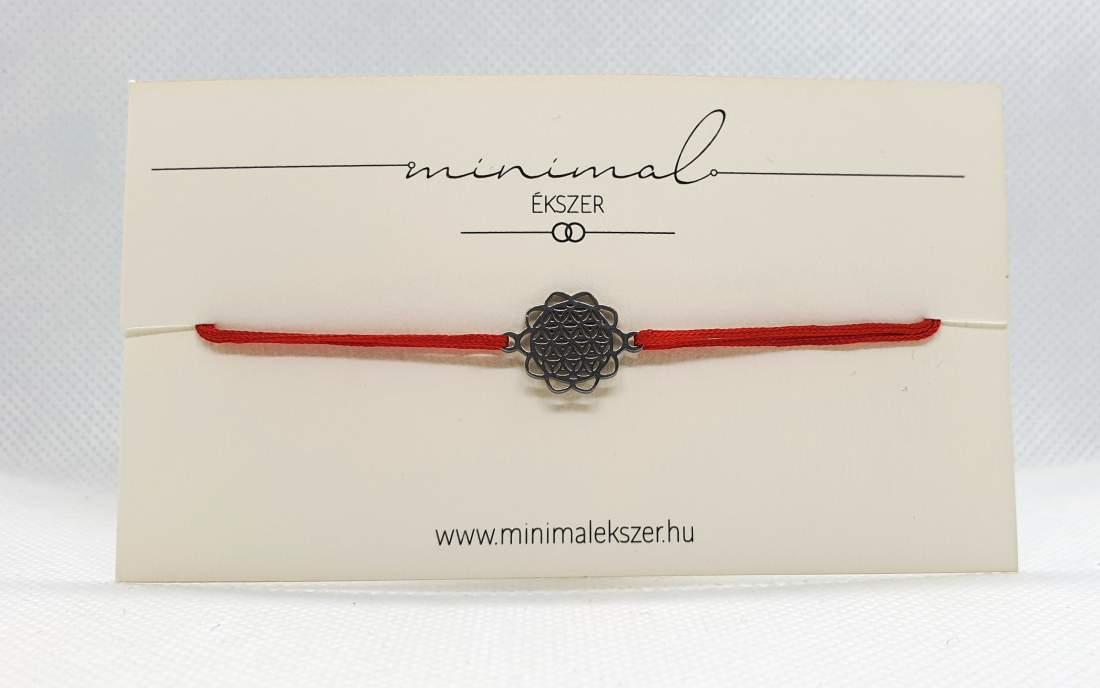 Mandala medálos zsinór karkötő