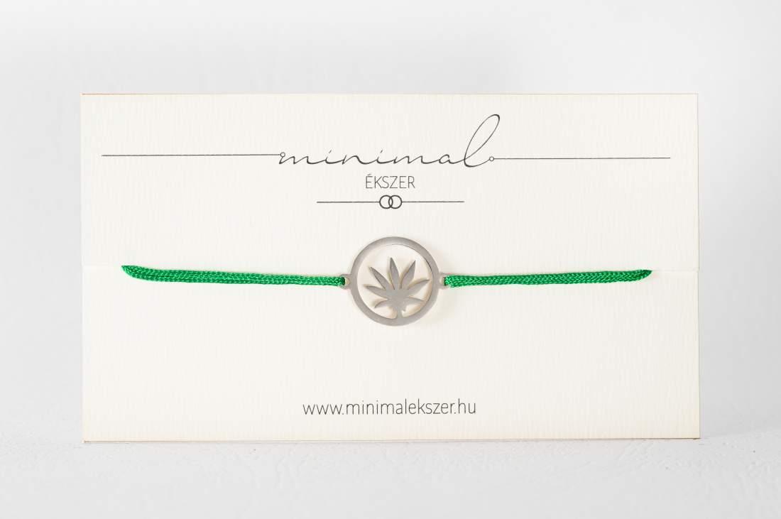 Cannabis medálos zsinór karkötő