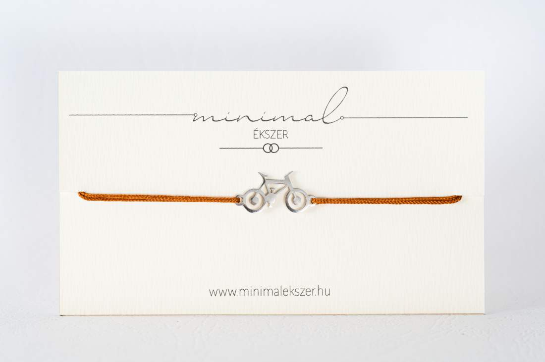 Kerékpár medálos zsinór karkötő
