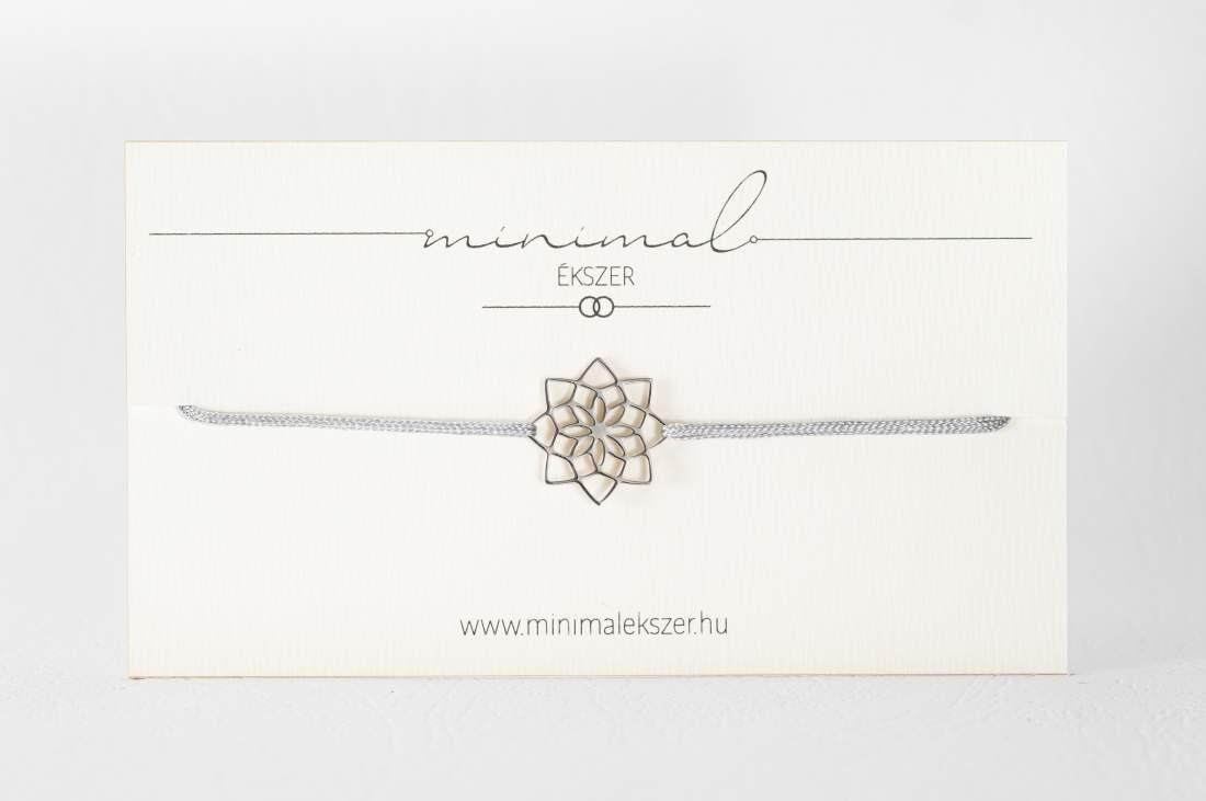 Virág mandala medálos zsinór karkötő