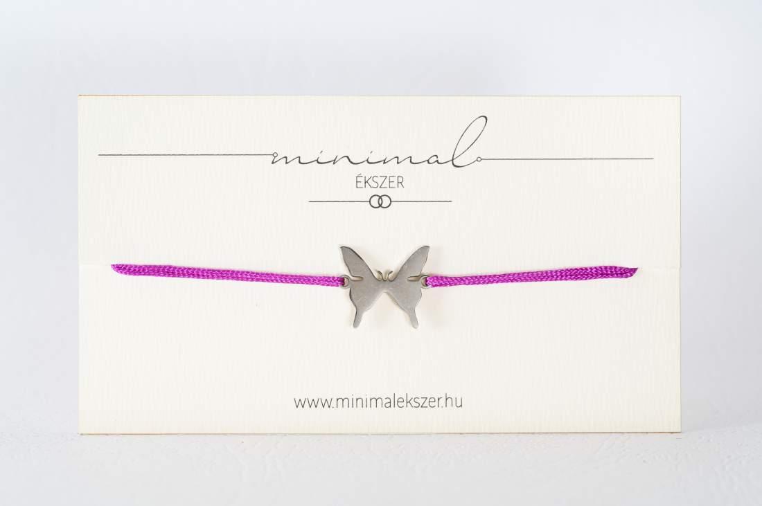 Kis pillangó medálos zsinór karkötő
