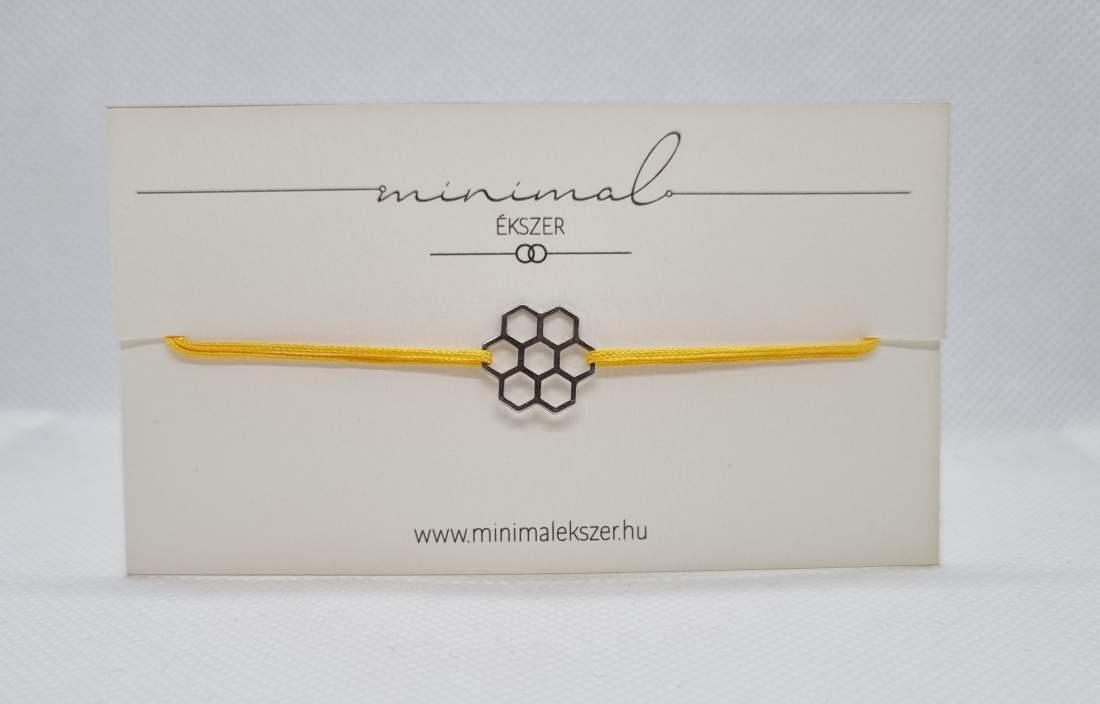 Méhkaptár medálos zsinór karkötő